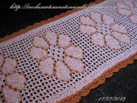 ▶ Como contornar desenhos em crochê filê - Artesanatos em Crochês Vanda - YouTube