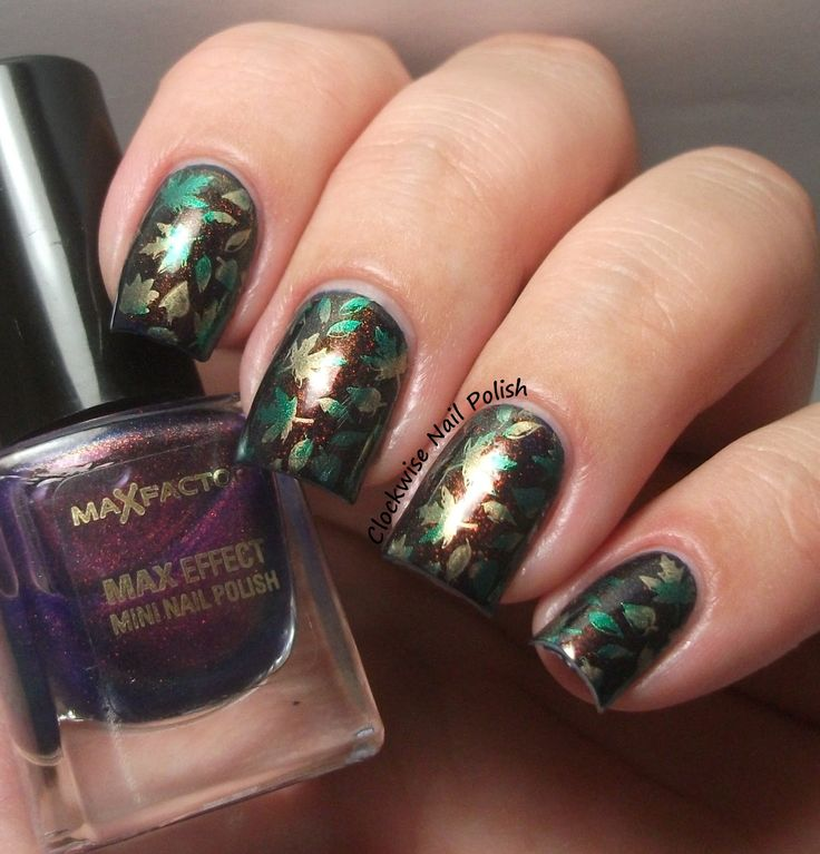The Clockwise Nail Polish: Fall Nails & Max Factor Fantasy Fire