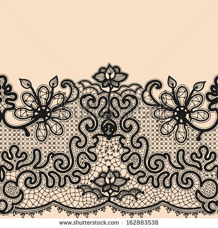Abstract lace image. Pattern with elements flowers and leaves