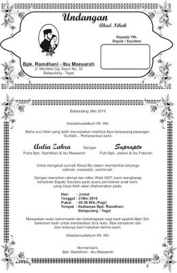 Undangan Akad Nikah Aulia Zahra Download Akad Nikah Word Doc