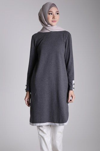 Nice oversized simply grey color outfit #hijup