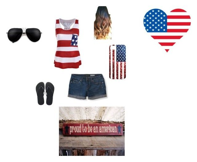 """""""Party in the USA"""" by lauren-mcarthur on Polyvore featuring Aéropostale and Havaianas"""