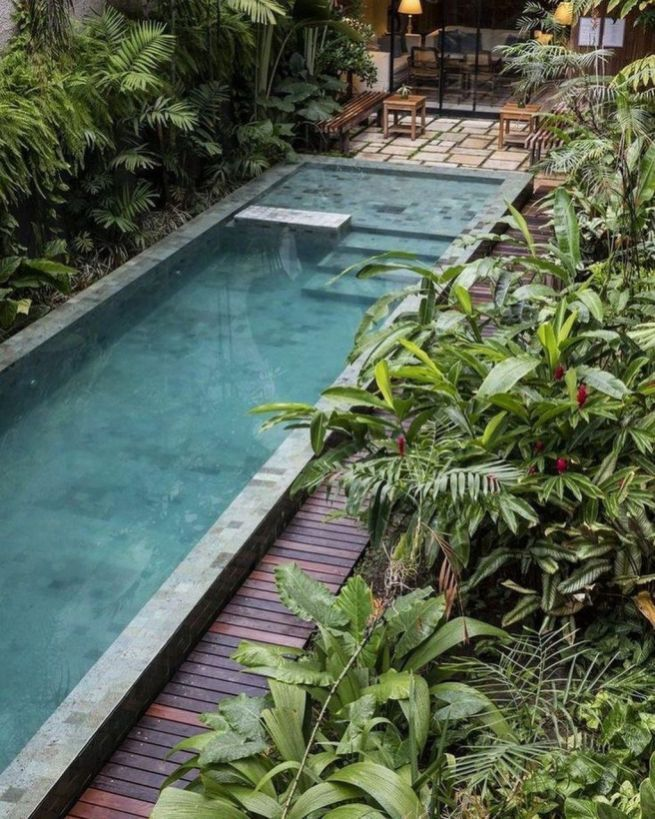 Cool Outdoor Garden Design Ideas With Small Pool For Your Home10 Swimming Pool Landscaping Pool Landscaping Small Pool Design
