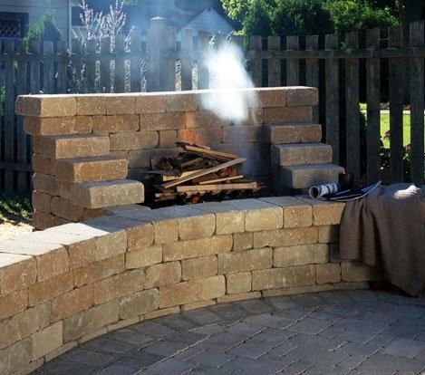 Alternative To Fire Pit An Open Fire Place Braai Against