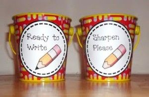 Pencil Pails - such a great idea!
