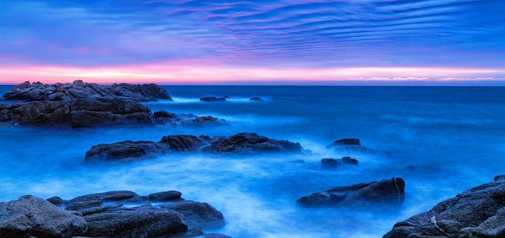 Beautiful sunrise in the coastal (Spain,Costa Brava) - Beautiful sunrise in the coastal (Spain,Costa Brava)