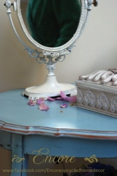 My pretty upcycled Celestial Blue table. & 80 best ENCORE HOME \u0026 GIFT images on Pinterest