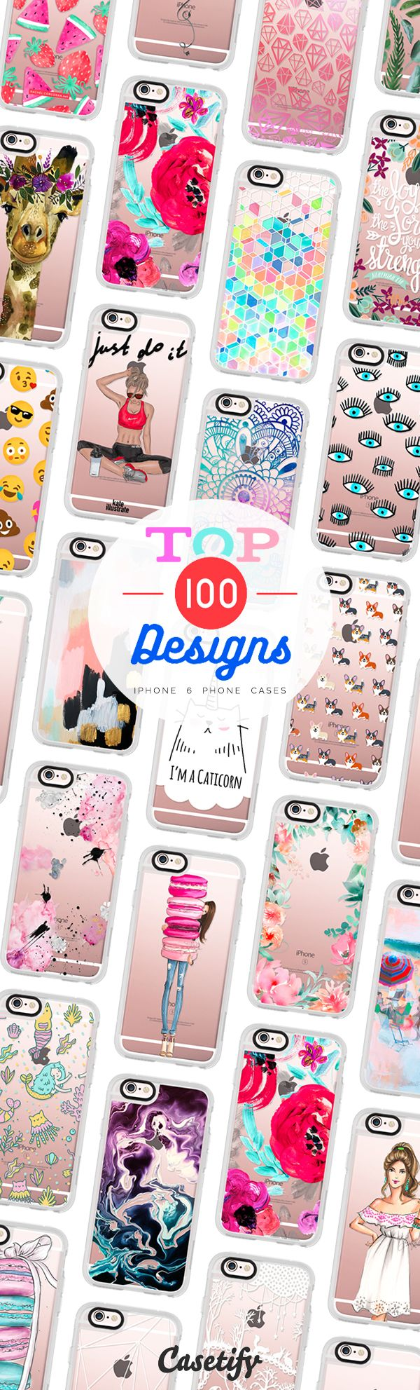 Top 100 iPhone 6 protective phone case designs | Click through to see more animal food marble floral iPhone phone case designs >>> https://www.casetify.com/collections/top_100_designs | @casetify