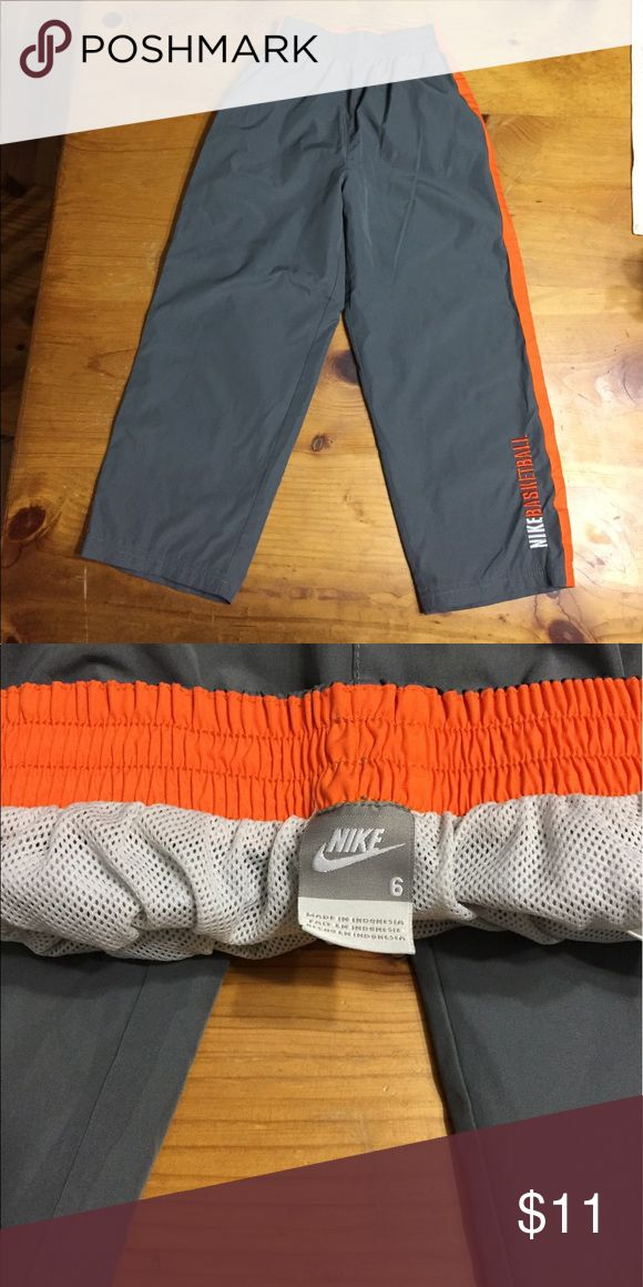 Nike Running pants size 6 Like new pair of Nike running pants size 6.  Writing in leg says Nike Basketball. Nike Bottoms Sweatpants & Joggers