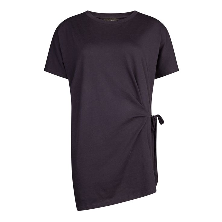 Oversized t-shirt met strik, Marine