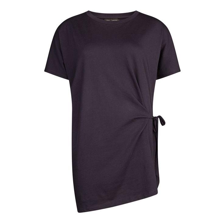 Oversized t-shirt met strik, Marine