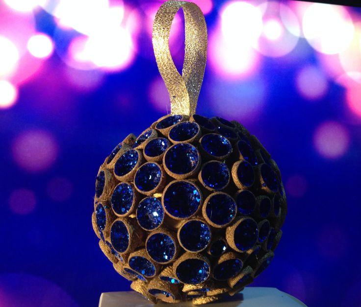 Boule de Noël doré et bleu