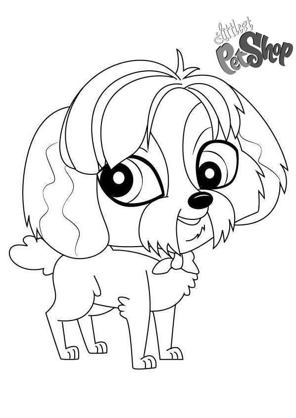 Free Littlest Pet Shop Coloring Pages Digby Printable For