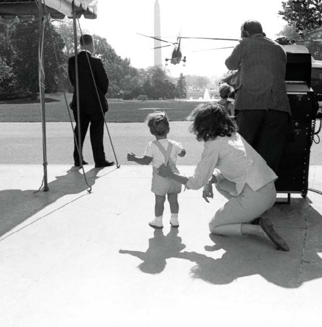 Jackie and John Kennedy Jr, photographed by Robert Knudsen, courtesy of the John F. Kennedy Presidential Library and Museum