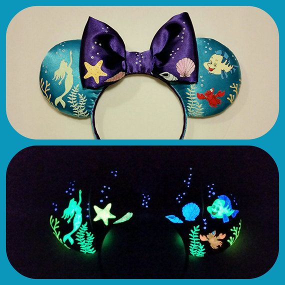 Hey, I found this really awesome Etsy listing at https://www.etsy.com/listing/450208854/glow-in-the-dark-ariel-ears-mickey-ears