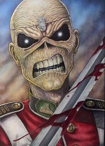 Iron Maiden poster.