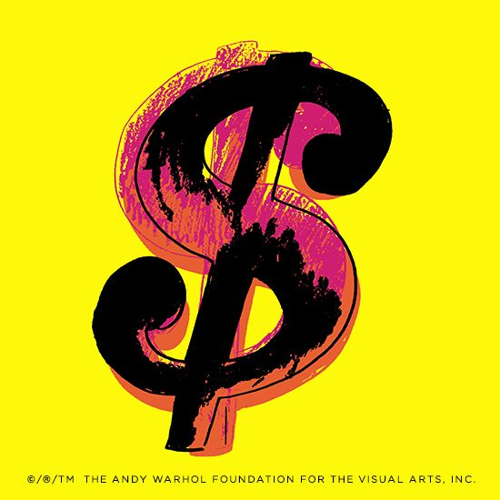 Andy Warhol S Iconic Dollar Sign Was Incorporated Into The Popwrap Limited Edition Collection With Foundation Sixties