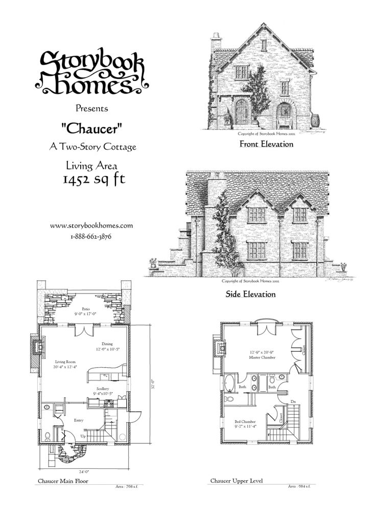 39 chaucer 39 houseplan via storybook homes blueprints for Storybook homes plans