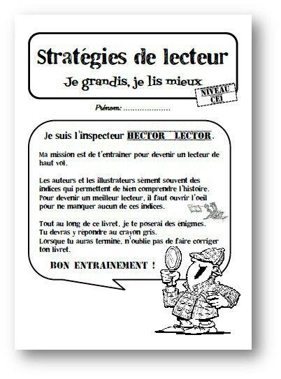 Hector Lector : fichier d'entrainement à la lecture d'inférences, à la recherche de connecteurs et de substituts