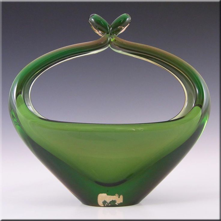 Skrdlovice Czech 1960's Glass Sculpture Bowl - Labelled - £44.99