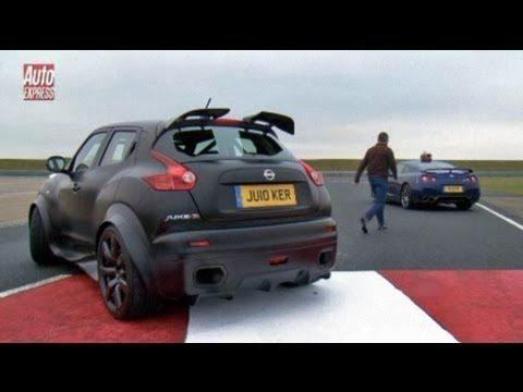 Showdown: Nissan Juke-R pitted against GT-R on track