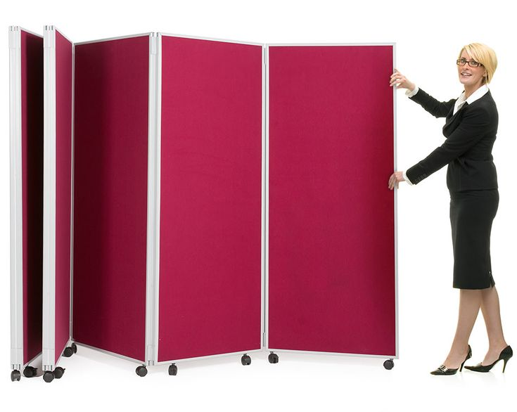 Mobile Concertina Divider Partitions Folding Display