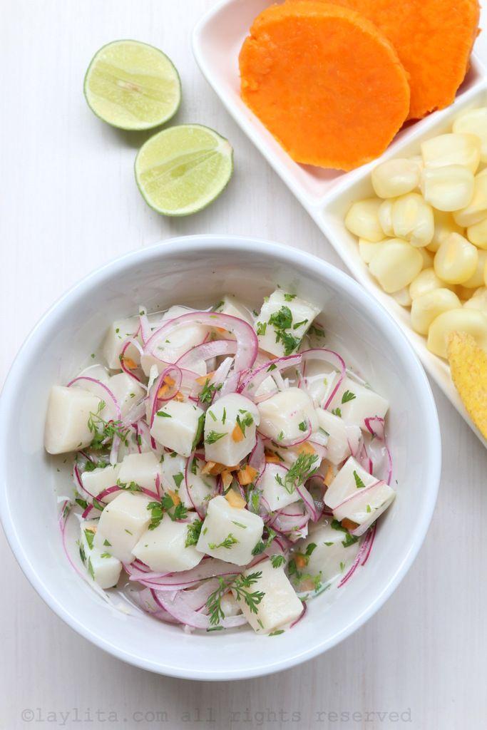 Cebiche peruano or Peruvian fish ceviche