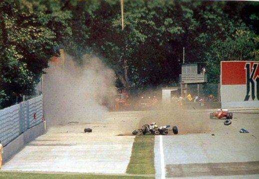 May, 1994. Watching the Grand Prix @ Imola live at home. The terrible crash and loss of Ayrton Senna...