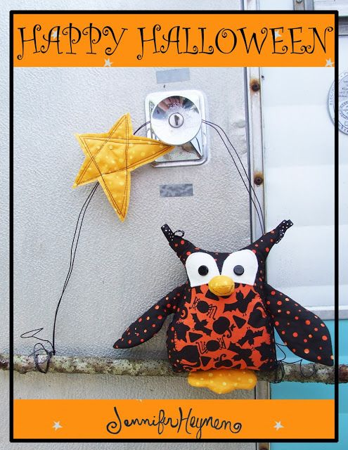Jennifer Jangles Blog: Halloween Owl Door Hanger