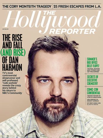 """'Community's' Dan Harmon Reveals the Wild Story Behind His Firing and Rehiring TV's most controversial showrunner (and self-professed """"rude asshole"""") renews his feud with Chevy Chase, recalls his attacks on NBC and Sony, reveals his regrets over the rape joke and details how Joel McHale helped him get his old job back. This story first appeared in the July 26 issue of The Hollywood Reporter magazine."""