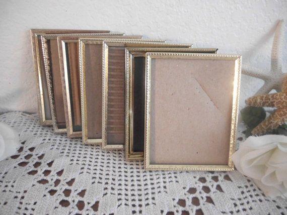 33.83 kr. Vintage Gold Metal Frame 3.5 x 5 Wedding by ElegantSeashore