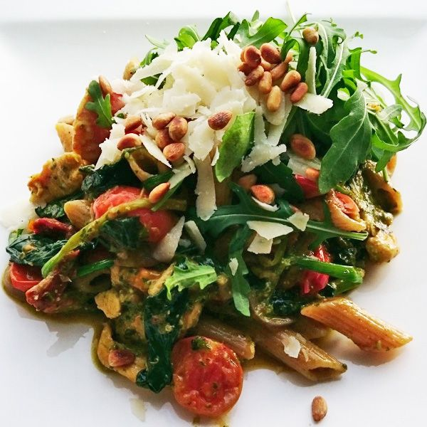 Recept pasta pesto met kip