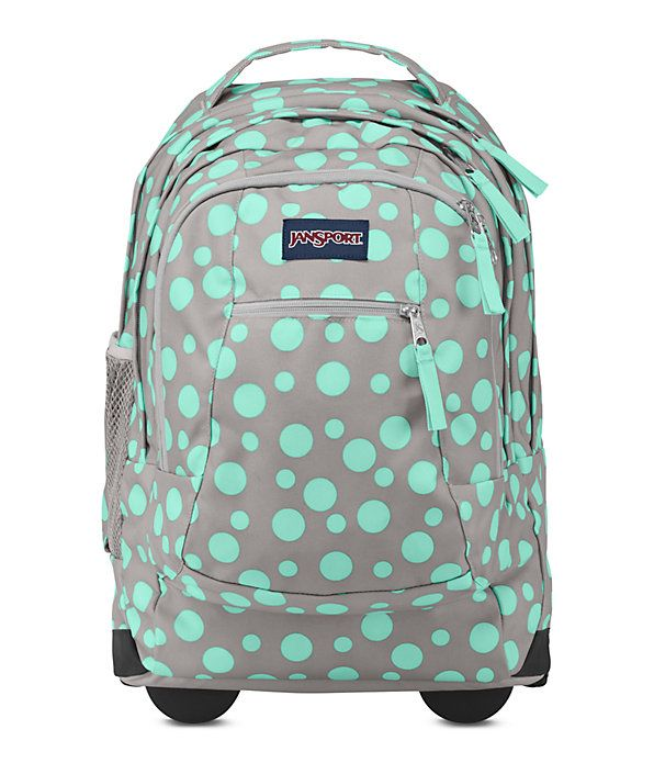 For a life on-the-move, the JanSport Driver 8 rolling backpack converts from backpack to roller with tuck-away shoulder straps. The rolling backpack features a padded 15 inch laptop sleeve, side water bottle pocket and front organizer pocket.