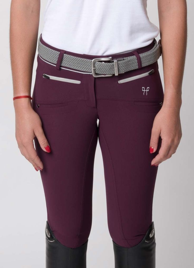 Pantalon d'équitation prune pour femme