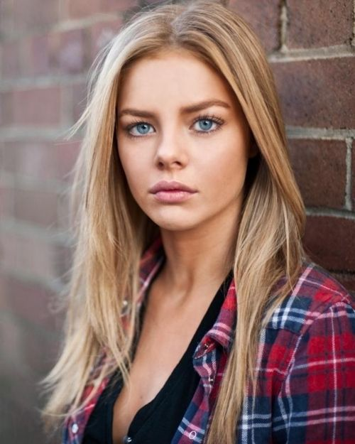 blonde and blue eyes