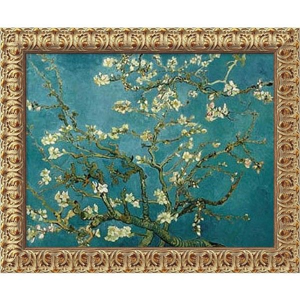Almond Blossom ($259) ❤ liked on Polyvore featuring home, home decor, wall art, turquoise canvas wall art, blossom wall art, blue home decor, aqua home decor and blue wall art