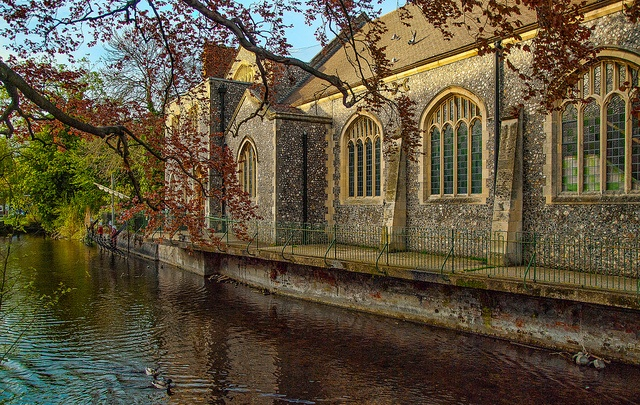 The Methodist Church by the River Anton in Andover, Hampshire, via Flickr.
