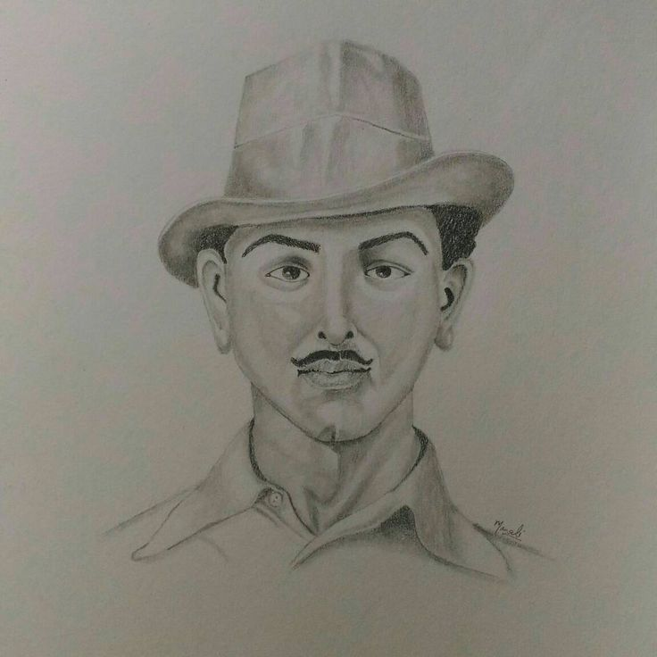 """10 Likes, 9 Comments - Dedicated to Art  (@creativitytrance) on Instagram: """"Today's inspiration - Legendary Bhagat Singh!! And am so stoked about how it turned out ☺ It's by…"""""""