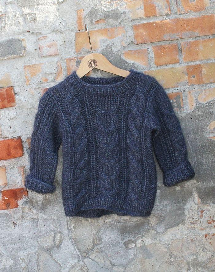 børne sweater strikkekit