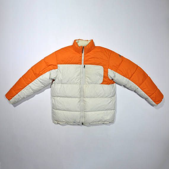 Vintage 80s 90s NIKE ACG REVERSIBLE Goose Down Feather Winter Snow Jacket / Nike Puffer Puffy Jacket / Nike Windbreaker / Nike Winter Coat