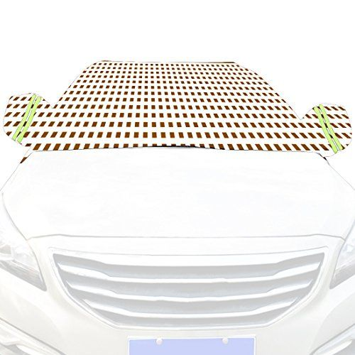 Car Snow Cover Snow Cover for Cars, SUV Snow Protectors Automotive Windshield Snow Covers Grey and White