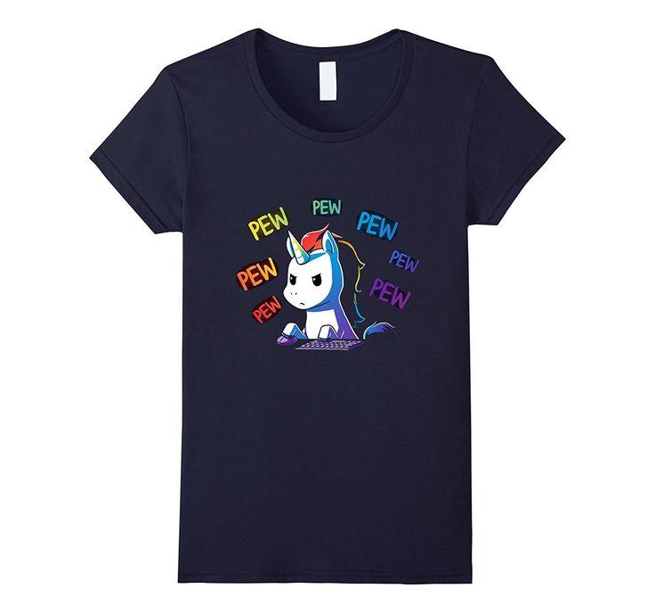 Pew Pew Pew Unicorn - Funny Tshirt