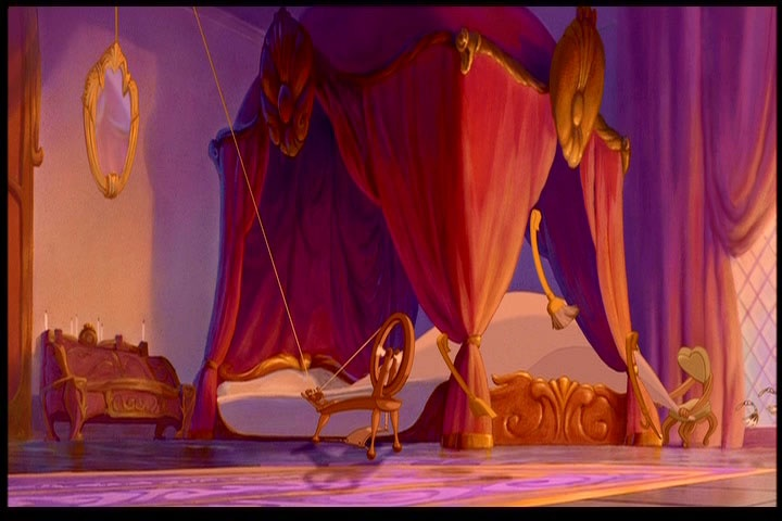 Canopy Bed Inside Castle From Disney S Quot Beauty And The