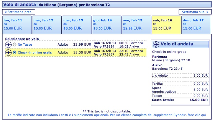 Voli low cost Ryanair per i primi mesi del 2013
