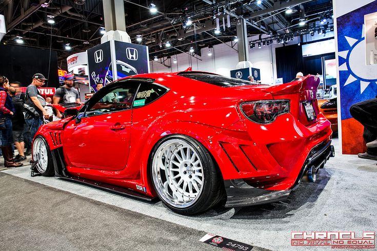 Toyota GT86 in aerodynamic body kit Varis Wide style Red. On a site: www.farpost.ru / … on c …