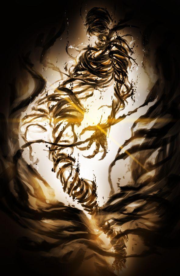 Nas sombras me refúgio pensando e esperando quando a escuridão retornará e terei todo o meu poder novamente