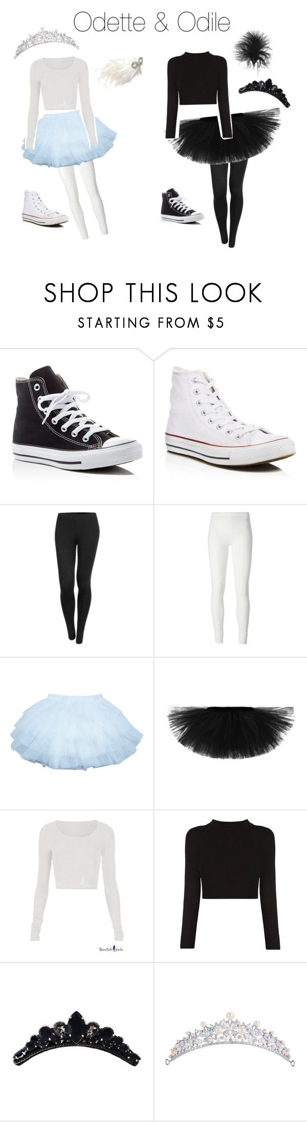 """""""My Halloween costume with my BFF"""" by ballerinamayabelle on Polyvore featuring Converse, LE3NO, Rick Owens Lilies, Giovannio, BFF and Ballerinas"""