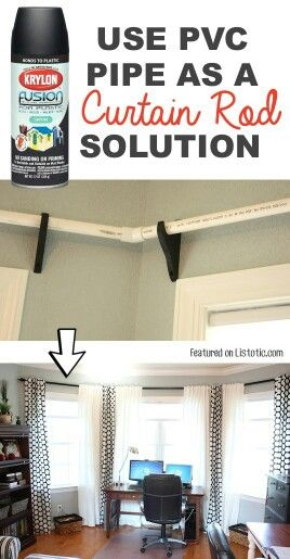 Searching out less expensive alternatives to the traditional curtain rods.