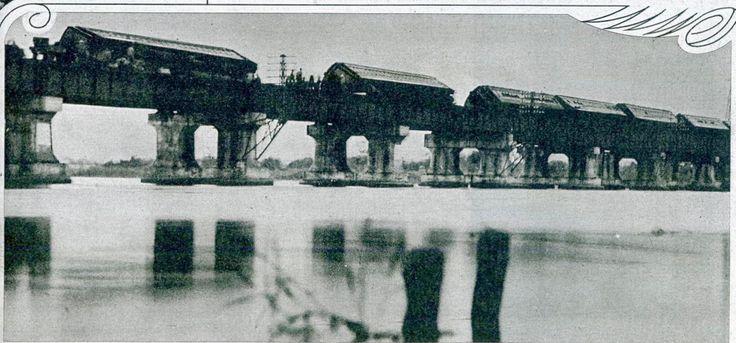 Setagawa railway bridge accident distant view - 日本の鉄道事故 (1949年以前) - Wikipedia