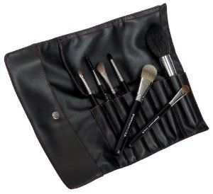 SILK 7 PC SET by Royal & Langnickel. $69.99. Makeup Brush Set. Professional quality SILK brushes in a personal size set! Store these 7 essential brushes in the stylish black wrap with red stitching. This set includes: Dome Powder Foundation MD Eye Shader Smudger Angle FLuff Angle Brow/Lash Brush Lip Brush.